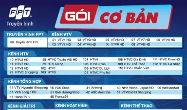 Danh sách Kênh truyền hình trên Bộ giải mã FPT Box 4K